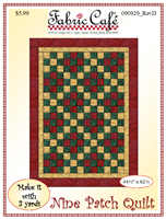 Nine Patch -  3 Yd Quilt Pattern