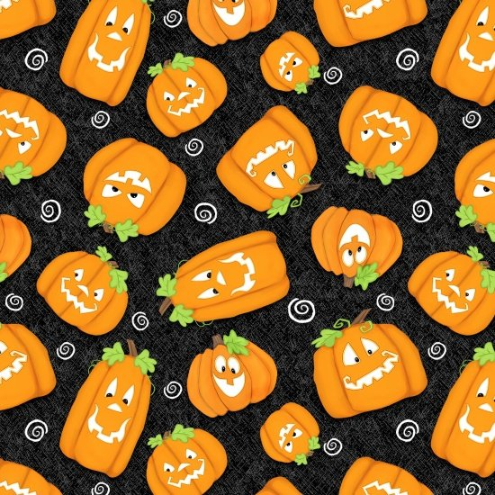 Chills & Thrills - Pumpkins Tossed on Black
