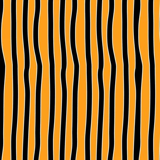 Chills & Thrills - Orange/Black Wobbly Stripe