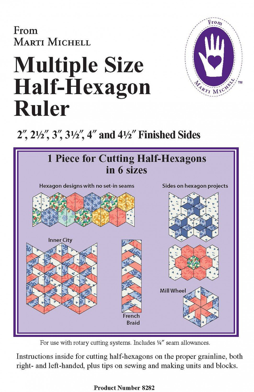 MM Half Hexagon Ruler 8282