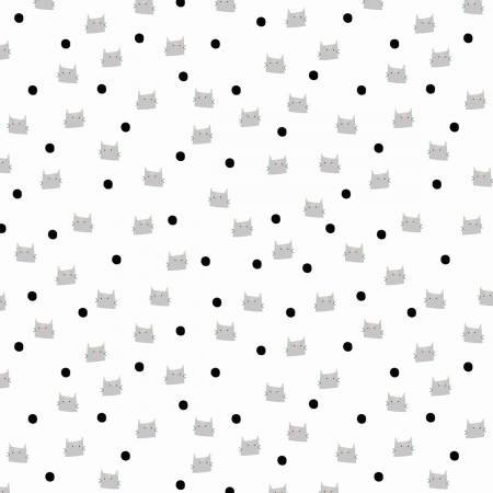 Meow and Forever Dots White
