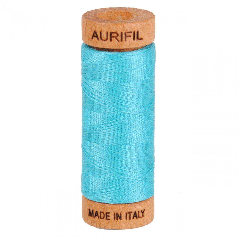 80 wt Aurifil - 5005 Bright Turquoise