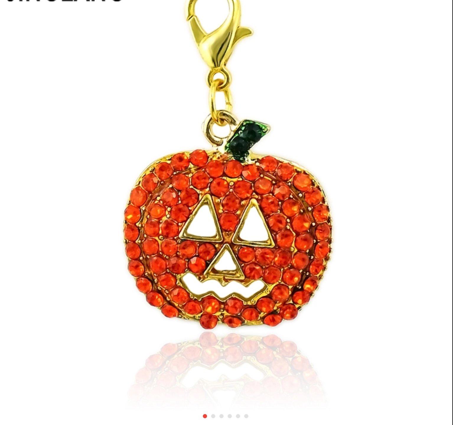 Charm - Glitter Pumpkins