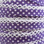 Purple Polka Dot Crochet Edge Bias Tape