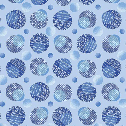 Blue Brilliance - Shimmer Dots Light Blue  10/19
