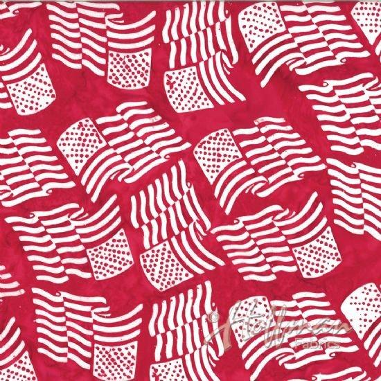 Bali Batik - American Flag Peppermint