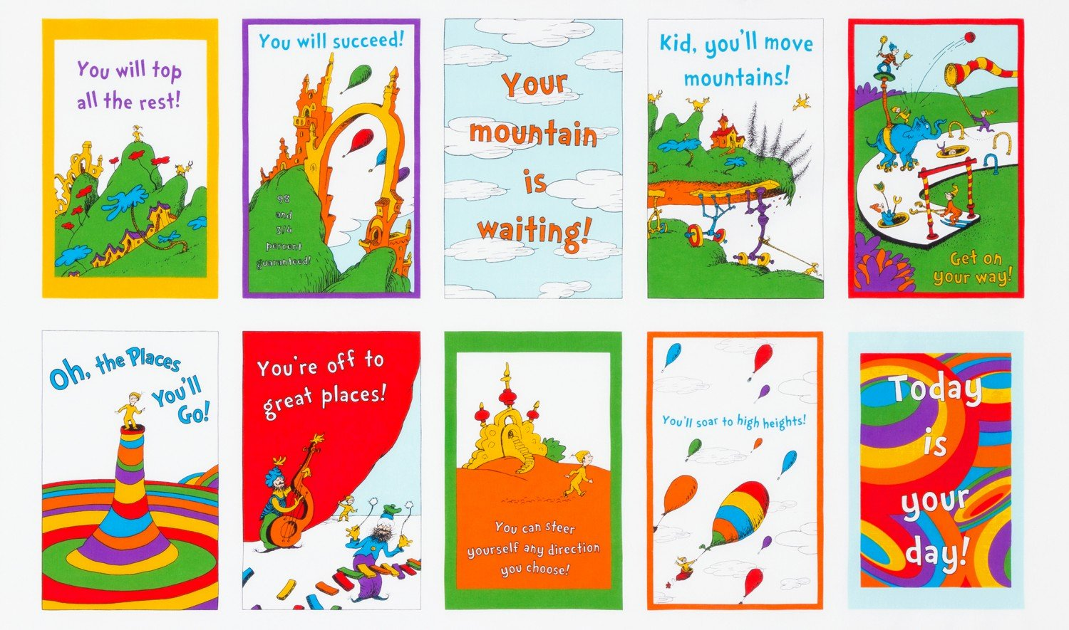 Oh the Places You'll Go 24 Book Panel