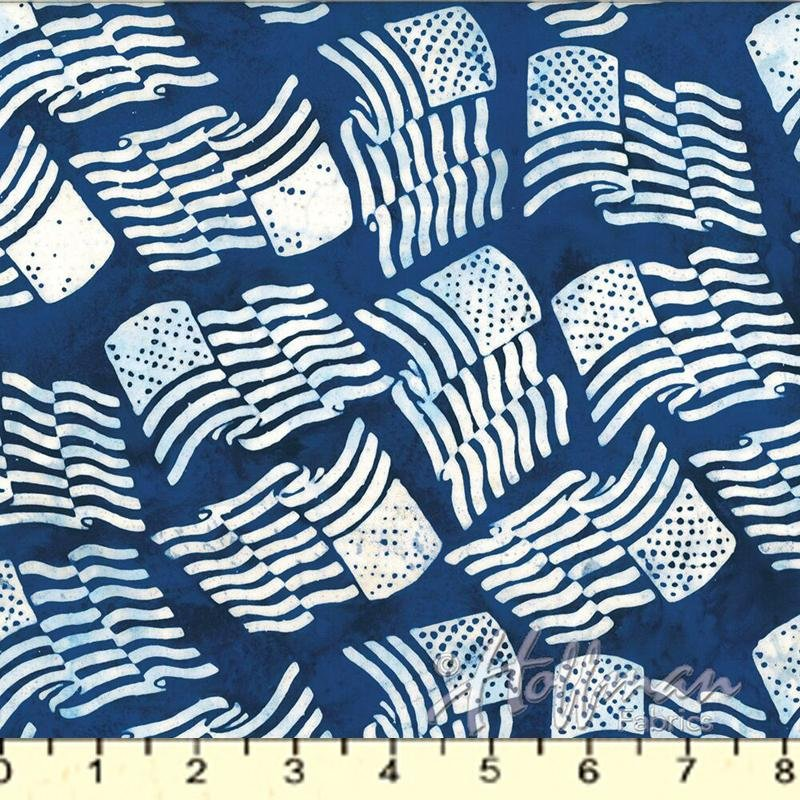 Bali Batik - American Flag Blue