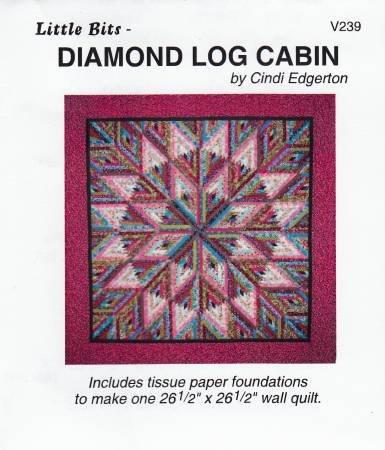 239 Little Bits Diamond Log Cabin