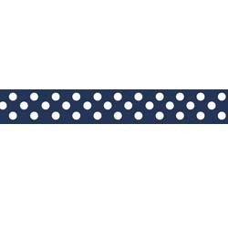 3/8 Navy Dots Ribbon