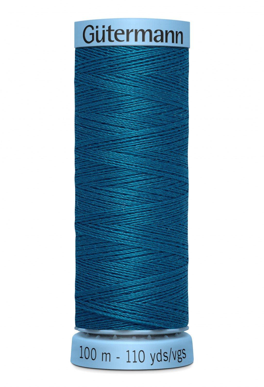 Gut.Silk-483 Blue Green