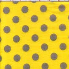 Yellow/Gray Dot Flannel