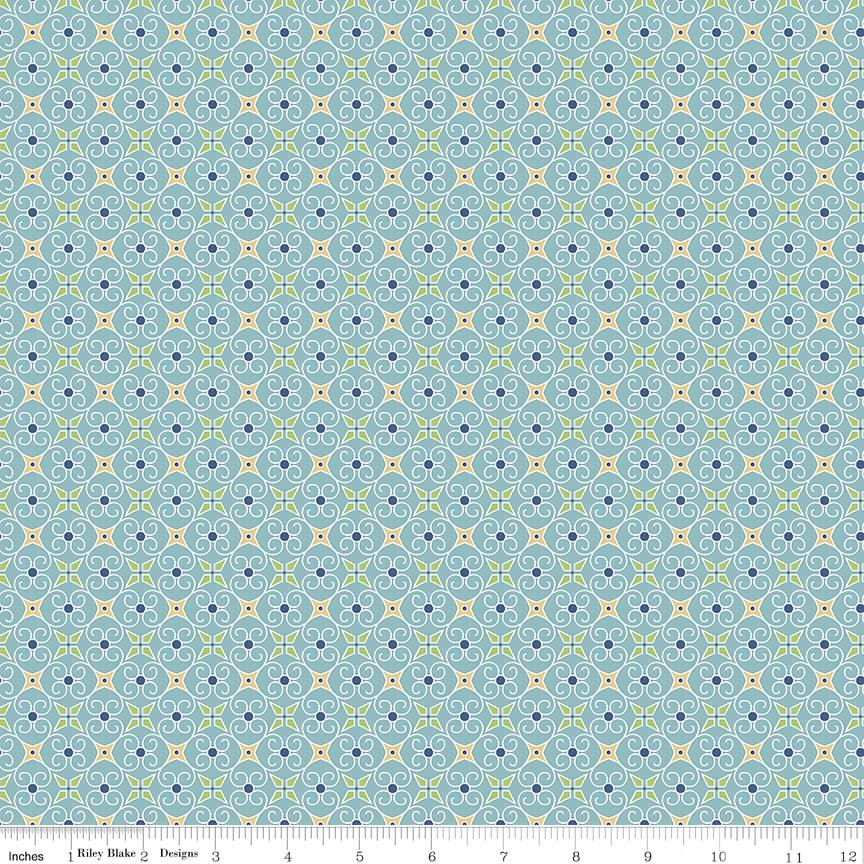 Cozy Wrapping Paper Blue