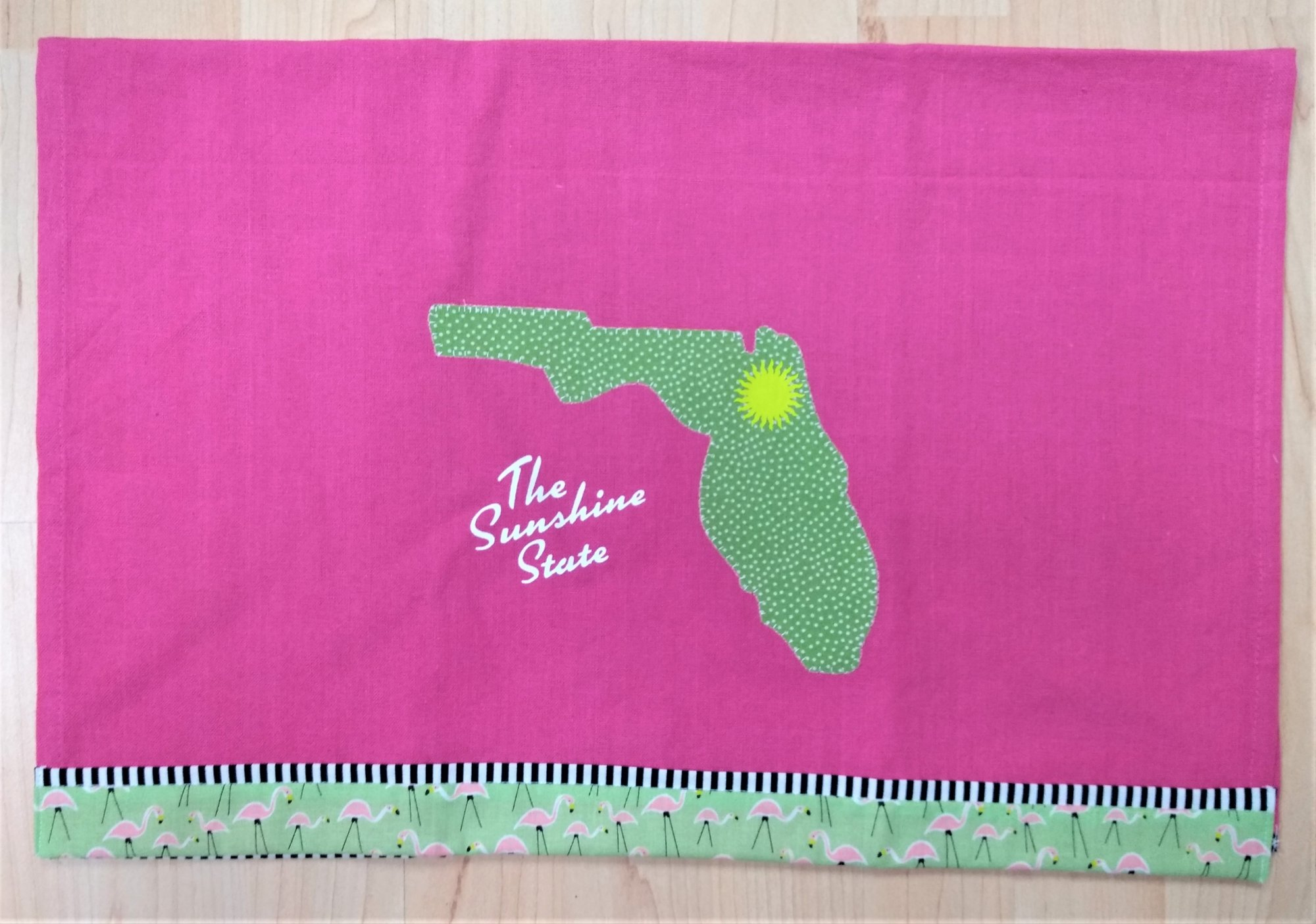 Florida Flamingo Tea Towel