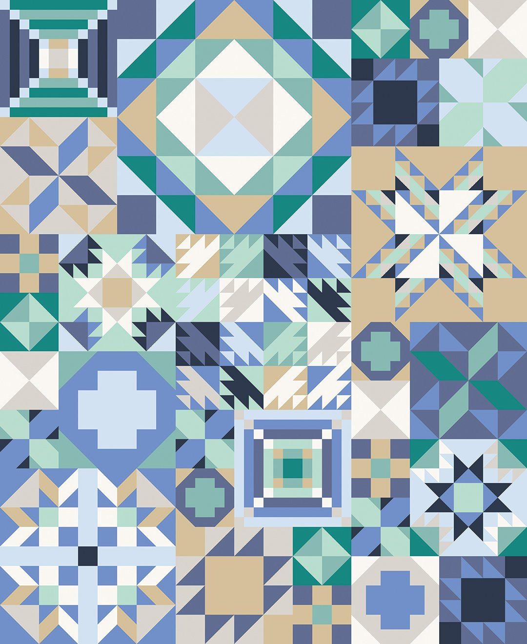 *PRE-ORDER* Coastal Cool Sampler Quilt Kit