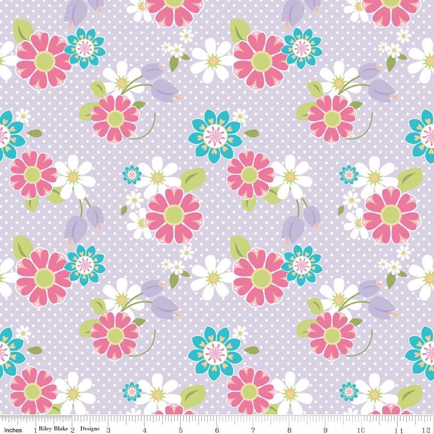 Dream Floral Purple Knit