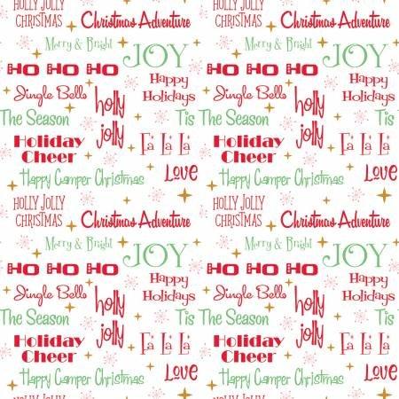 Christmas Adventure Phrases White w/Sparkle