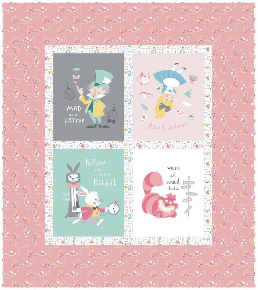 Alice in Wonderland Quilt Kit