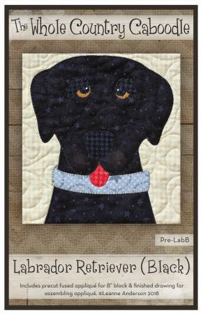 Black Lab Precut Fused Applique