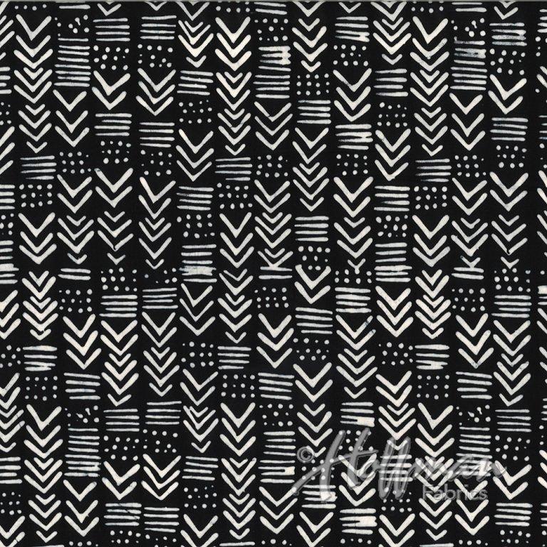 Hand Dyed Batiks - Painted Geo - Zebra