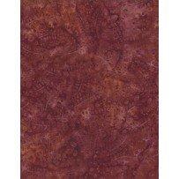 Batik - Leaves & Circles Dk Orange
