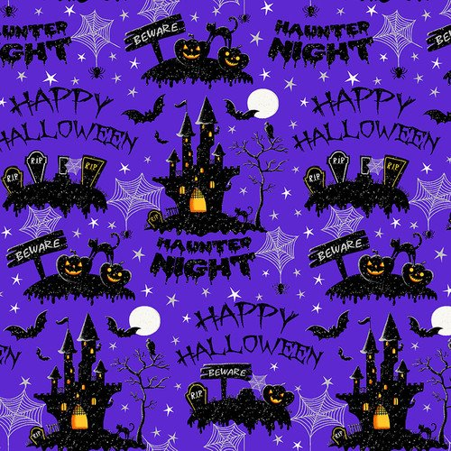 Hocus Pocus - Allover Haunted Night Purple