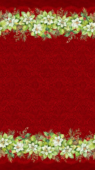 Deck the Halls - Border Red