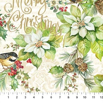Deck the Halls - Lg Print Cream