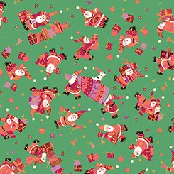 Holiday Minis  - Santas Green