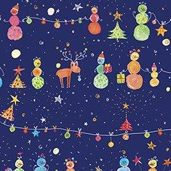Holiday Minis  - Snowman Navy
