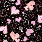 With Love - Large Hearts Black