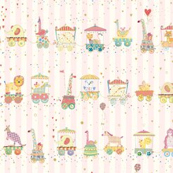 Animal Parade Stripe - Pink
