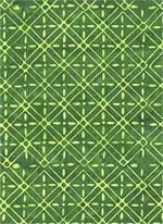 Batik 2924 - Green Weave w/flowers