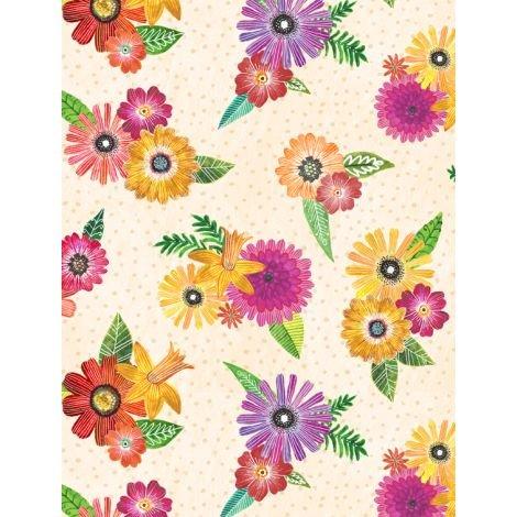 Floral Flight - Floral Bouquets Cream