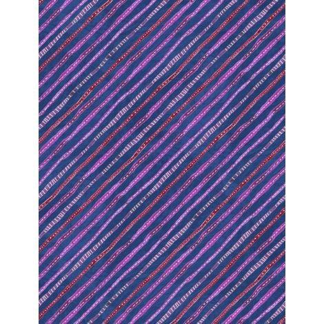 Floral Flight - Stripe Dark Blue
