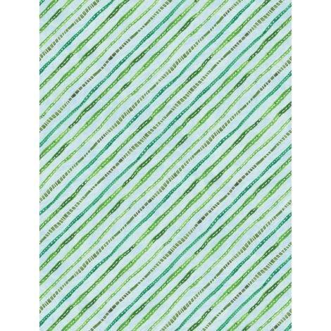 Floral Flight - Stripe Light Blue
