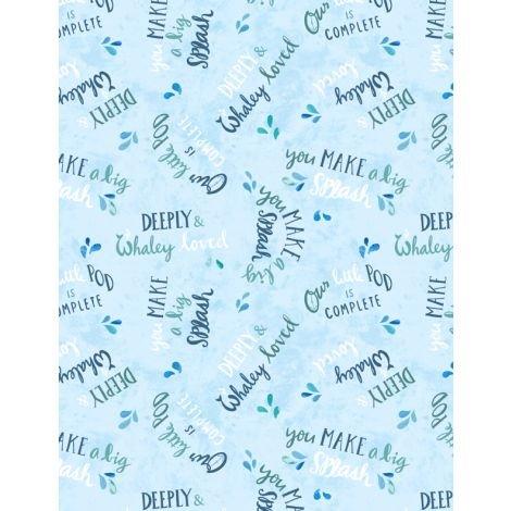 Whaley Loved - Word Toss Light Blue