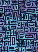Batik 3104 - Blue Boxes