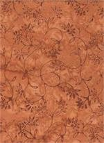 Batik 3159 - Rust w/leaves