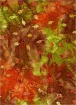 Batik 4319 - Mottled Autumn Tones w/Leaves