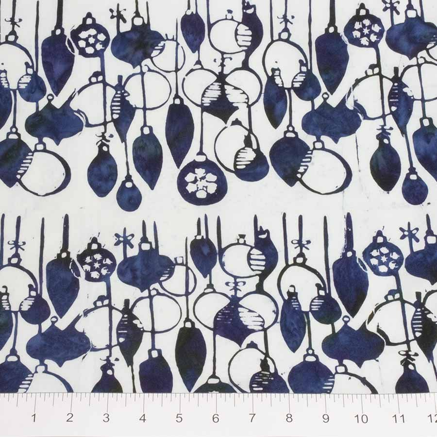 Batik - Winter Light - Ornaments - Blue