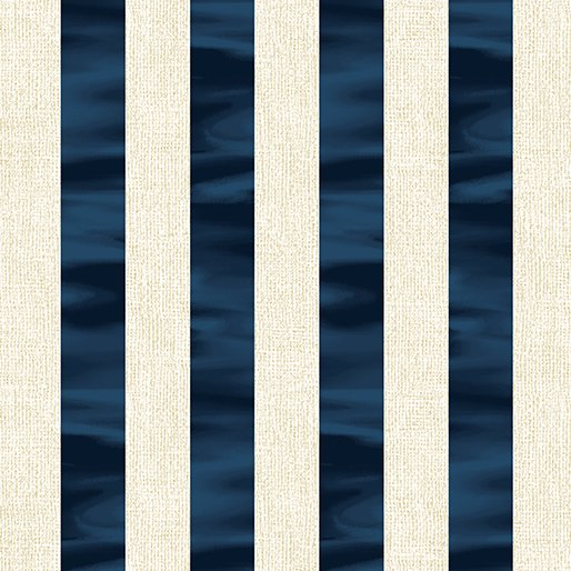 Channel Stripe - Navy/White