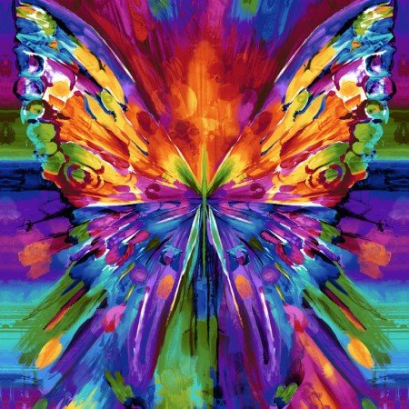 Awaken - Abstract Butterfly Panel