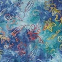 Batik Flowers & Feathers