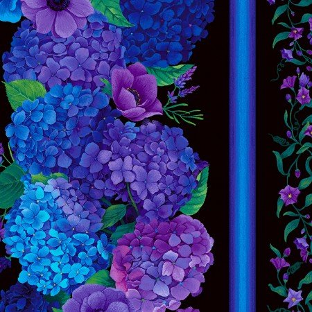 11 Border Print Digital - Hydrangea