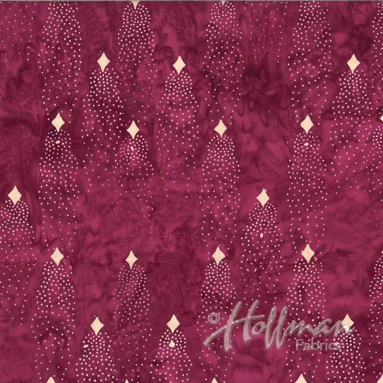Batik - Shooting Star - Burgundy