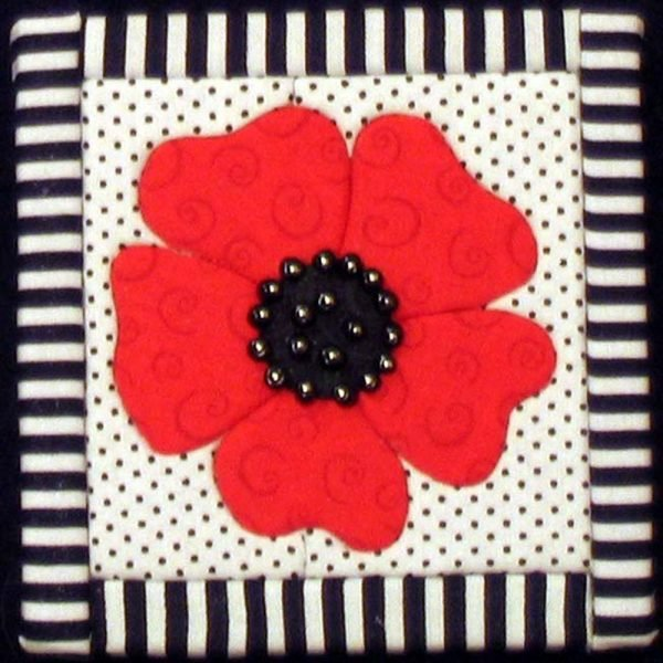 Quilt Board - 6 x 6 - Poppy