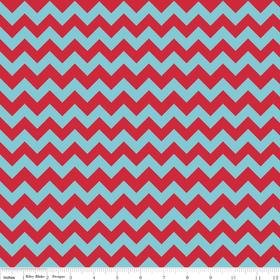 Flannel - Chevron Aqua/Red