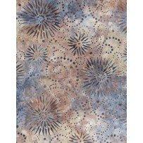 Batik - Flower Burst Blue/Gray