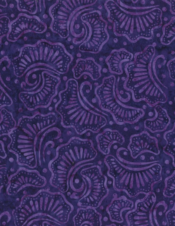 Batik - Wavy Fans Purple